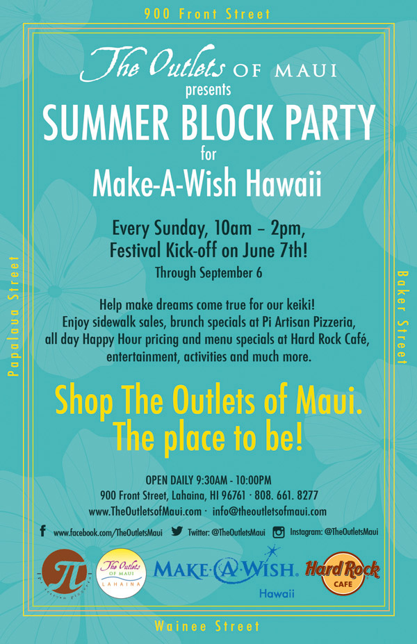 Outlets of Maui Summer 2015 Block Party