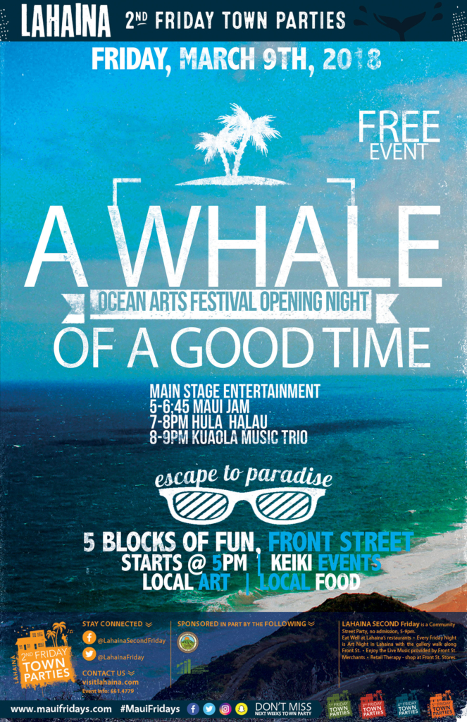 March 2nd Friday on Front Street Town Party: A Whale of a Good Time @ Campbell Park | Lahaina | Hawaii | United States
